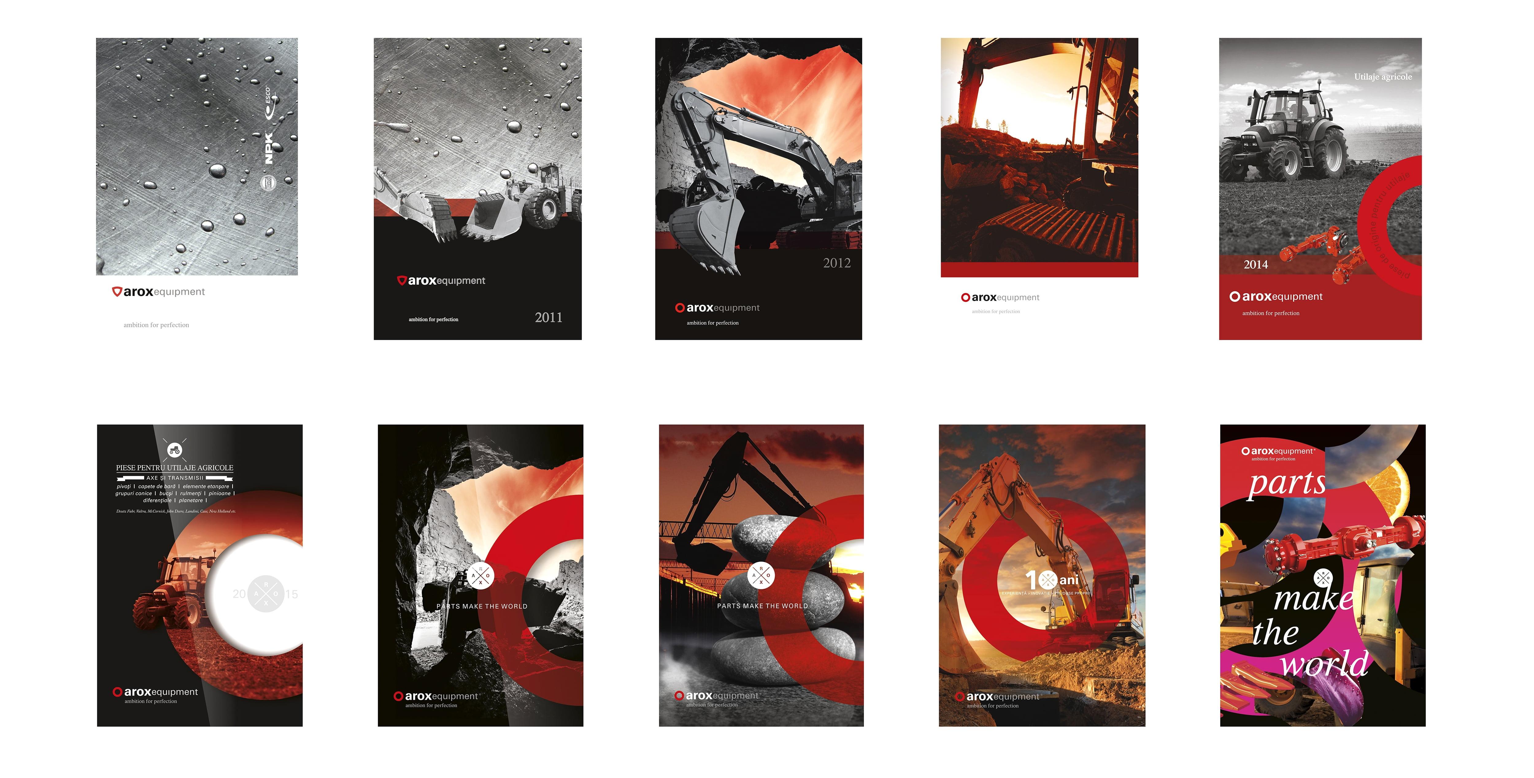 Evolutia graficii AROX pe copertile agendelor anuale, 2009-2019